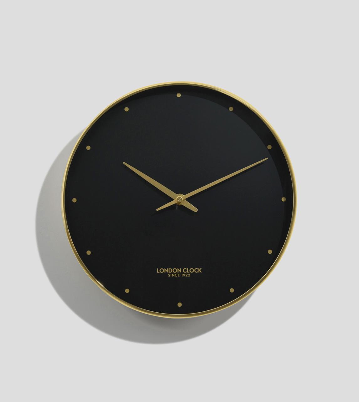 London Clock Durrant Gold Black London Clock Company Swoon