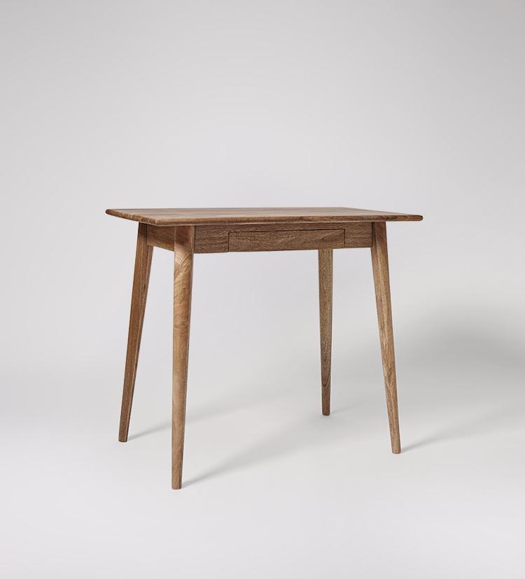 Ginsberg Small Desk Mid Century Style, Mango Wood Desk