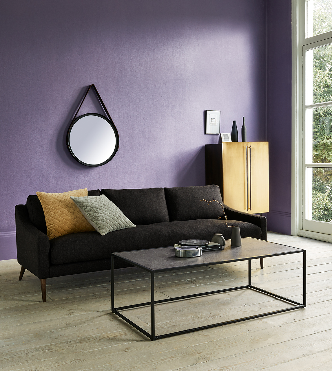 Marcelo Coffee Table Contemporary Style In Slate Veneer Swoon