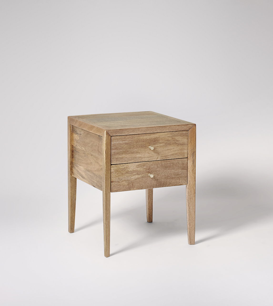 Valente Bedside Table Deco Style In Light Mango Wood Swoon